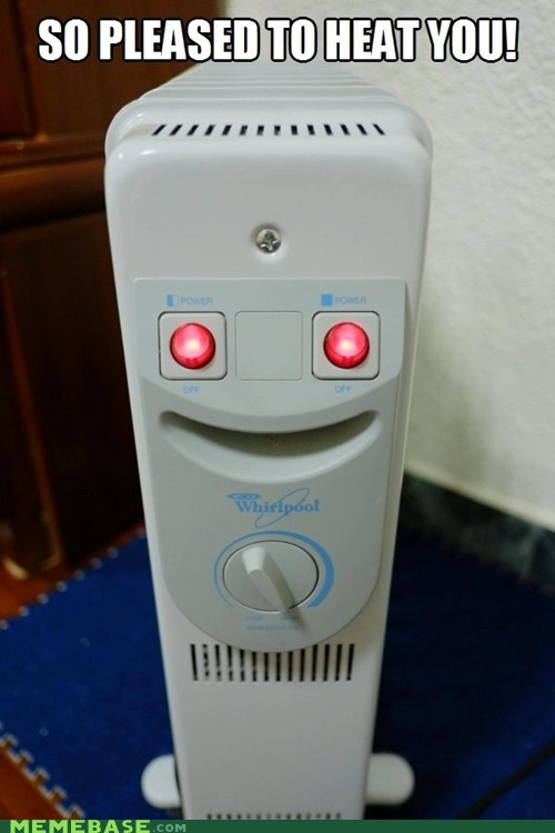 happy face,puns,heater,happy heater