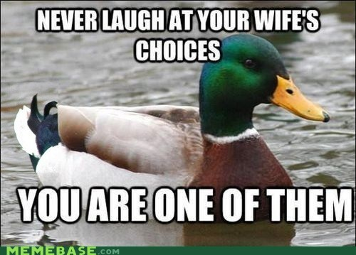 Actual Advice Mallard relationships marraige burn