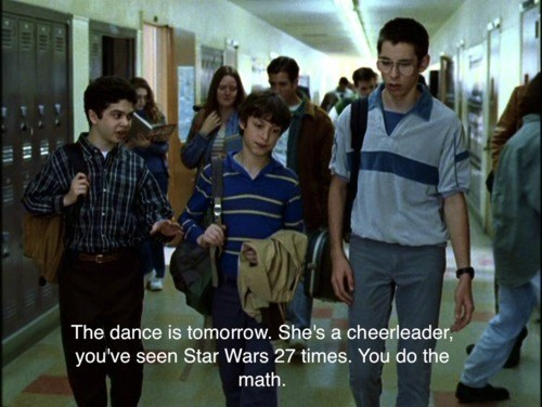 cheerleader,nerds,star wars