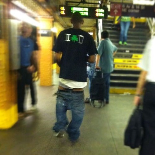 subway station,jeans,sagging