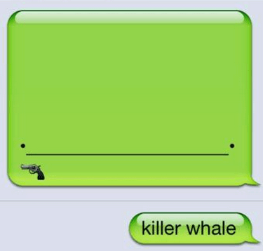 iPhones,whale,emojis,nonsense,killer whale