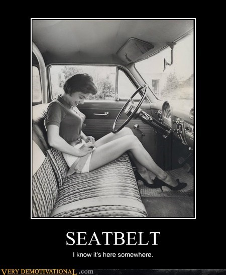 SEATBELT I know it's here somewhere.