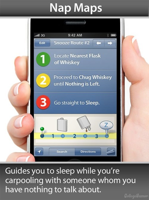 nap maps,apps,college humor,if only
