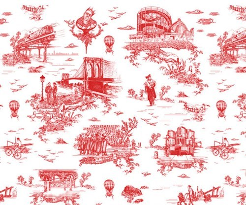 Brooklyn Toile Wallpaper by Mike D