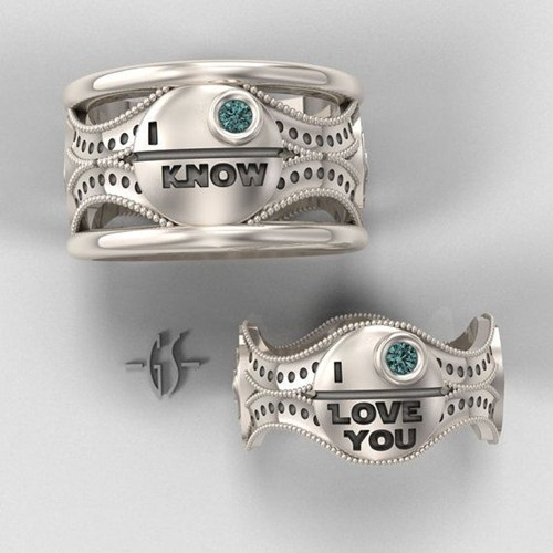 quotes rings star wars wedding bands Death Star love - 6991974912