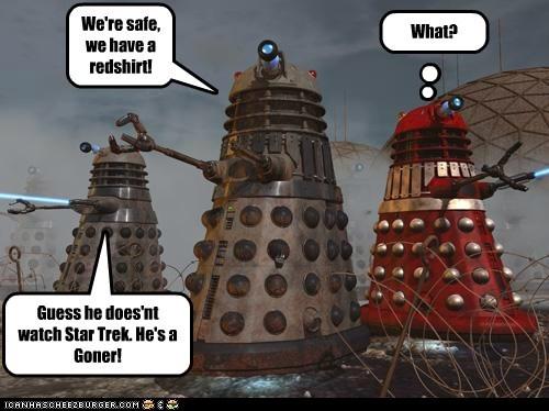 safe red shirt clueless daleks doctor who Star Trek gonner - 6991977984