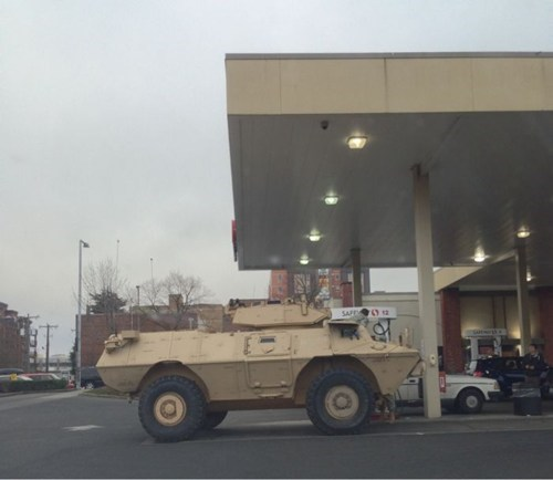 gas station,military,cars,BAMF