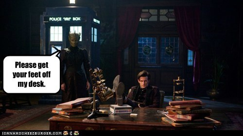 madame vastra,silurians,desk,feet,the doctor,Matt Smith,doctor who