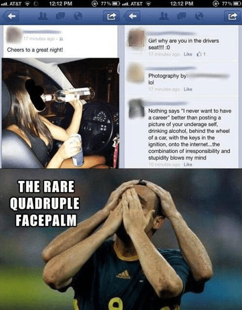 drunk driving cheers ended well quadruple facepalm - 6993705984