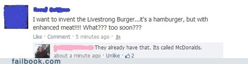 livestrong Lance Armstrong McDonald's failbook g rated - 6993707776