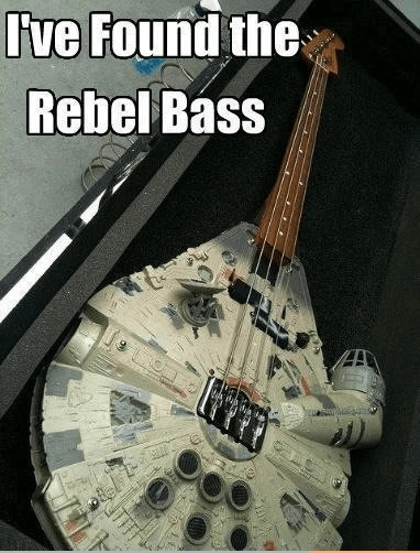 bass guitars star wars rebel base - 6993901312