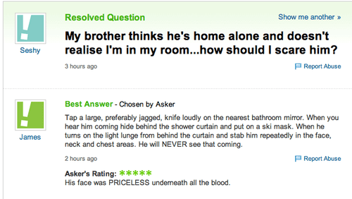 too far,trolling,yahoo answers