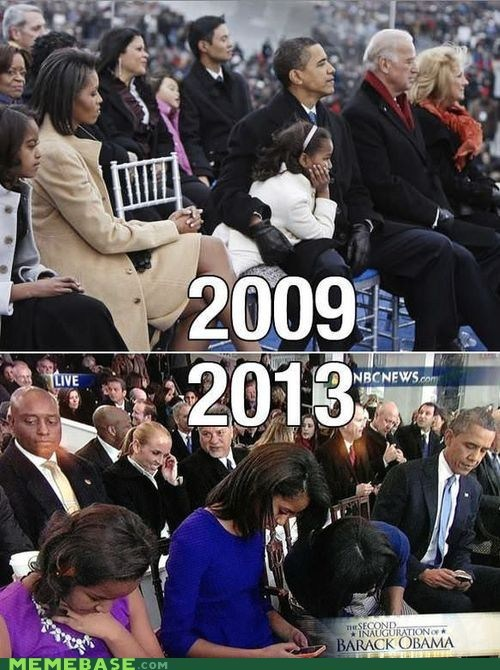 first family,Inauguration,obama,texting