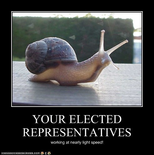 YOUR ELECTED REPRESENTATIVES working at nearly light speed!