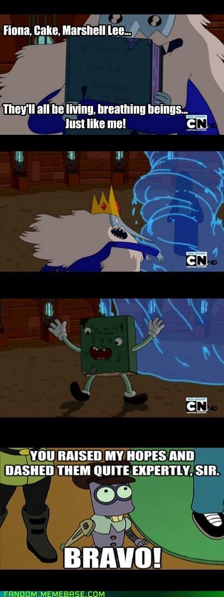 crossover feels cartoons futurama ice king adventure time - 6994598656