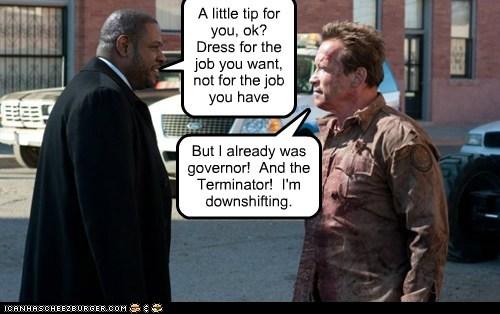 the last stand job terminator Governor Forest Whitaker Arnold Schwarzenegger dress - 6994605312