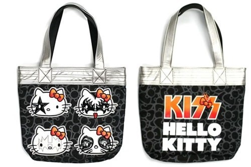 metal purse bag KISS hello kitty rock and roll - 6994629120