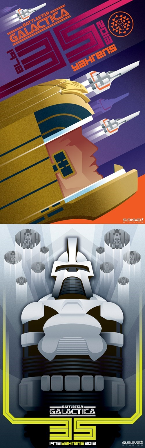 art deco Fan Art Battlestar Galactica cylon - 6994675968