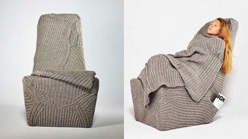 chair nap cozy sweater sleep blanket - 6994692352
