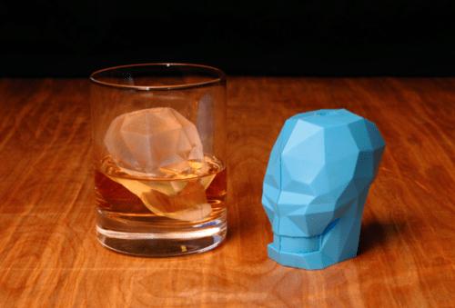 mold skull iice cubes ice