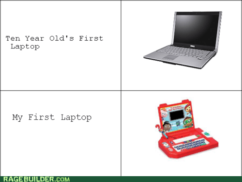 spoiled kids kids 10 year old laptop
