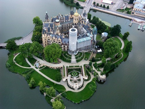 castle,cityscape,Germany,magical