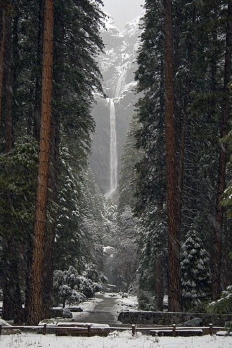 snow landscape waterfall winter yosemite destination WIN! g rated - 6994944768