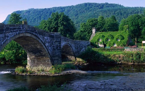 europe,Wales,magical,bridge