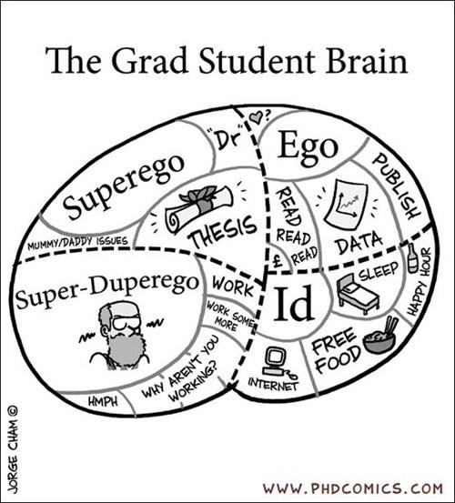 ego,brain,grad student