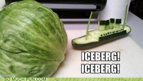 titanic lettuce cucumber iceberg