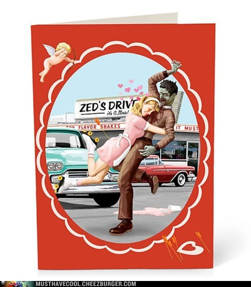 valentines zombie cards love Valentines day - 6996260352