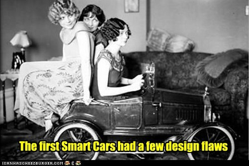 smart car car tiny silly ladies - 6996701696