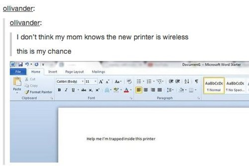 trapped wireless mom printer - 6996817408