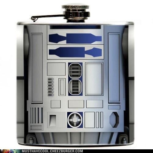 alcohol star wars booze droid r2-d2 flask - 6996829440