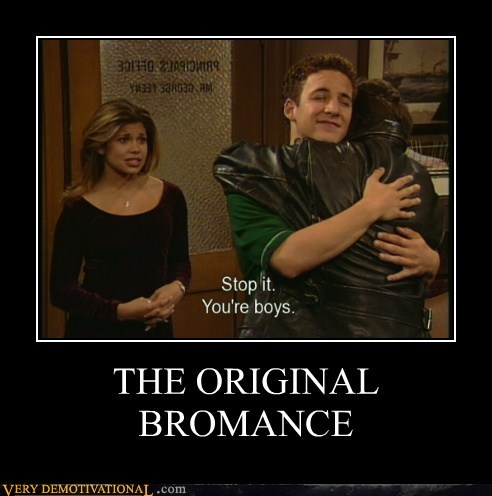 bromance hugs boy meets world