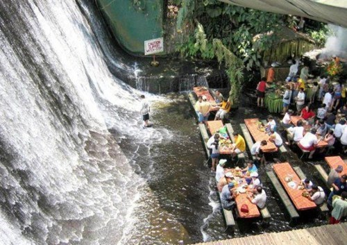 awesome,restaurant,waterfall