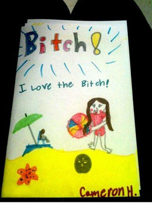 children's drawings beach misspelled words