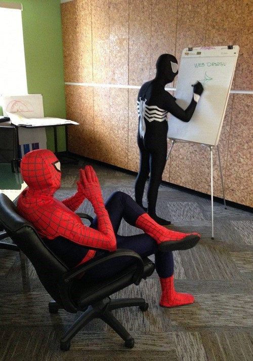 Spider-Man,web design,reports,monday thru friday,g rated