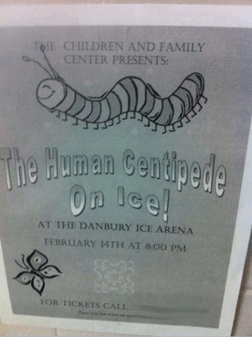 on ice,human centipede,flyer