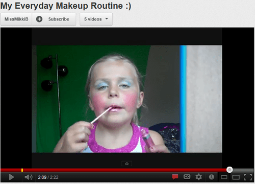 makeup youtube little girl
