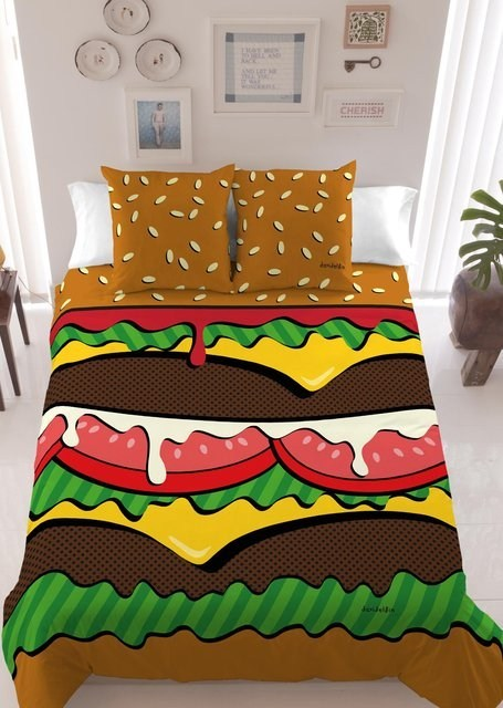 design bed sheets cheeseburger can has g rated win - 6997562112