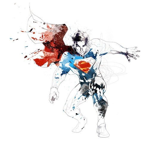 art,awesome,ink,superman
