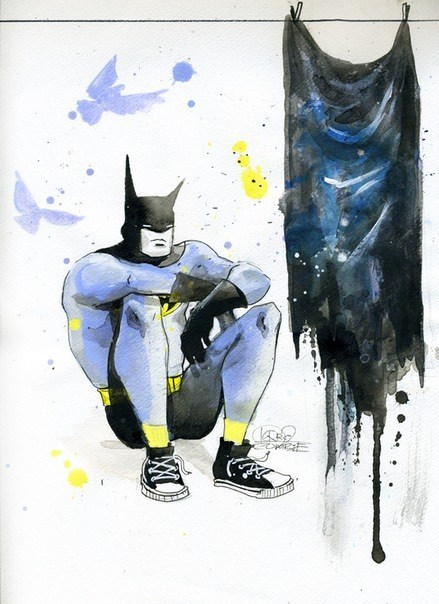 art,kid,tired,batman