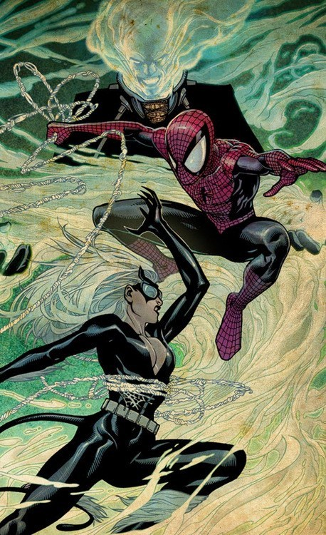 Spider-Man,off the page,dance,black cat