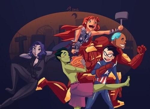 art teen titans costume avengers - 6997624320