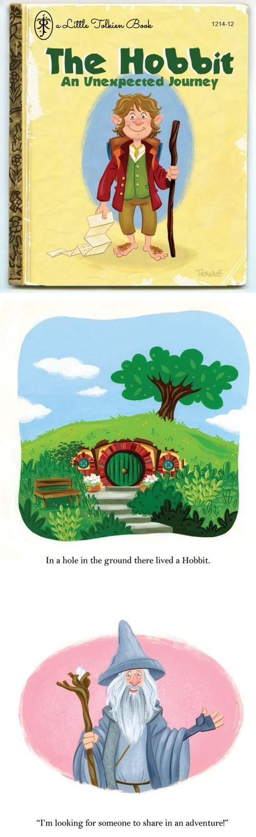 little golden books Bilbo Baggins gandalf childrens-books The Hobbit - 6997634560