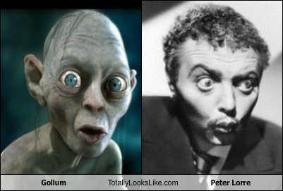 Lord of the Rings gollum TLL The Hobbit peter lorre