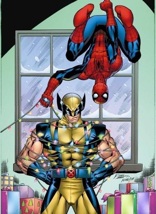 christmas lights Spider-Man wolverine - 6997787648