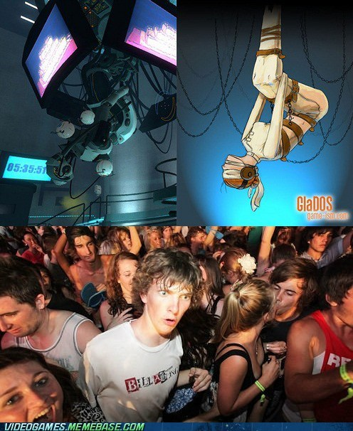 person,Memes,Portal,gladOS,sudden clarity clarence