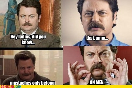 mustache ron swanson parks and rec hipsters TV Nick Offerman